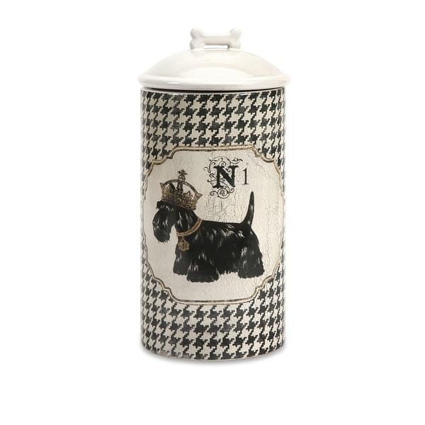 Dog Ceramic Canister Large