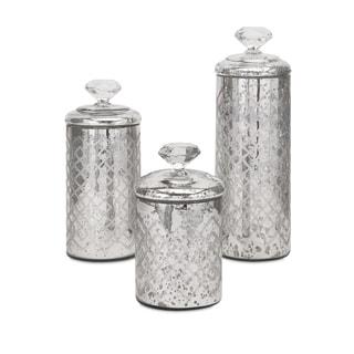 Nikki Chu Waldorf Mercury Glass Canisters (Set of 3)
