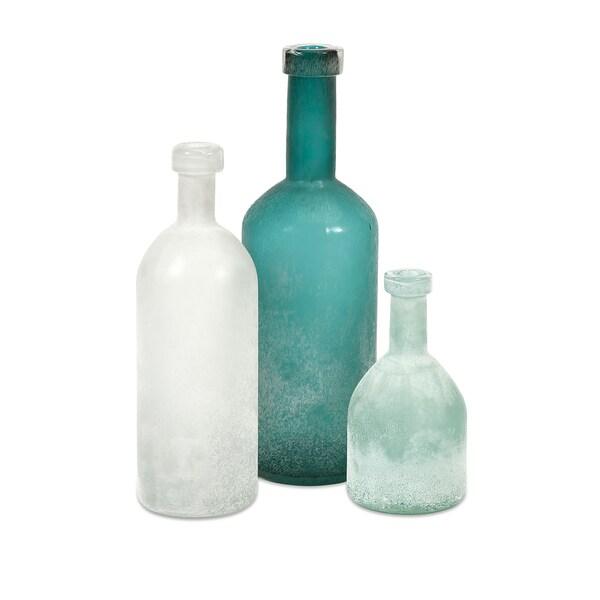 Russell Hand-blown Glass Bottles - Set 3