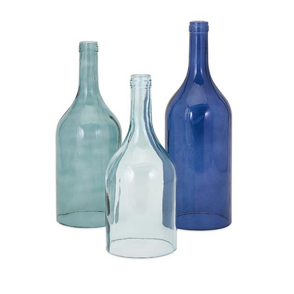 Monteith Blue Cloche Bottles (Set of 3)