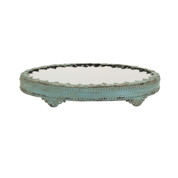 Blue Lace Mirror-top Grant Tray