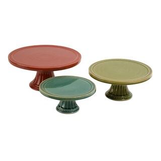 Reyes Pedestal Cake Plates (Set of 3)