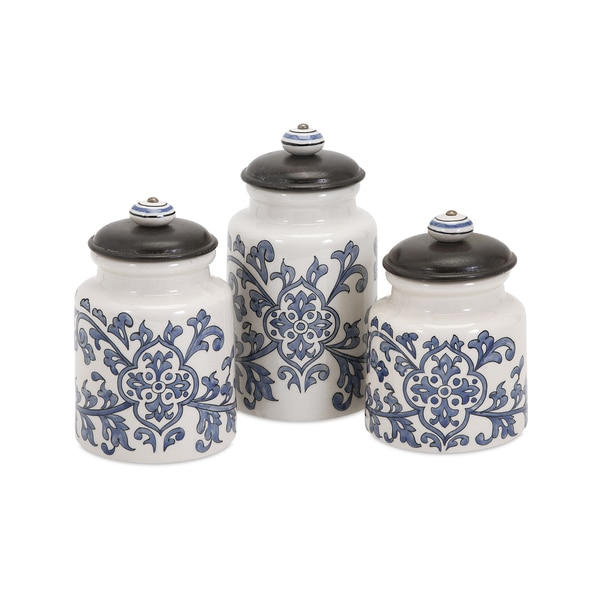Vera Hand-Painted Canisters (Set of 3)
