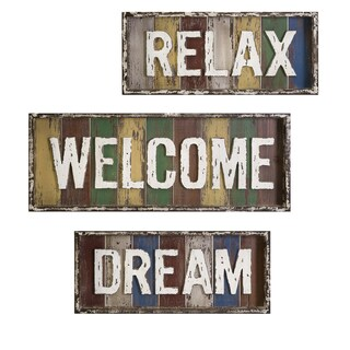 Bingham Dream, Relax, Welcome Wall Decor (Set of 3)