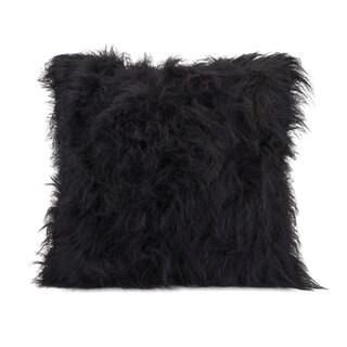 Nikki Chu Black Faux Fur 22-inch Throw Pillow