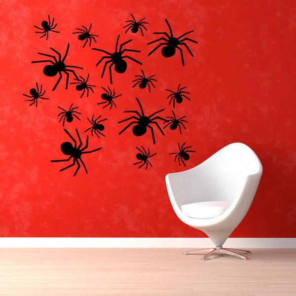 Spiders Vinyl Sticker Wall Art
