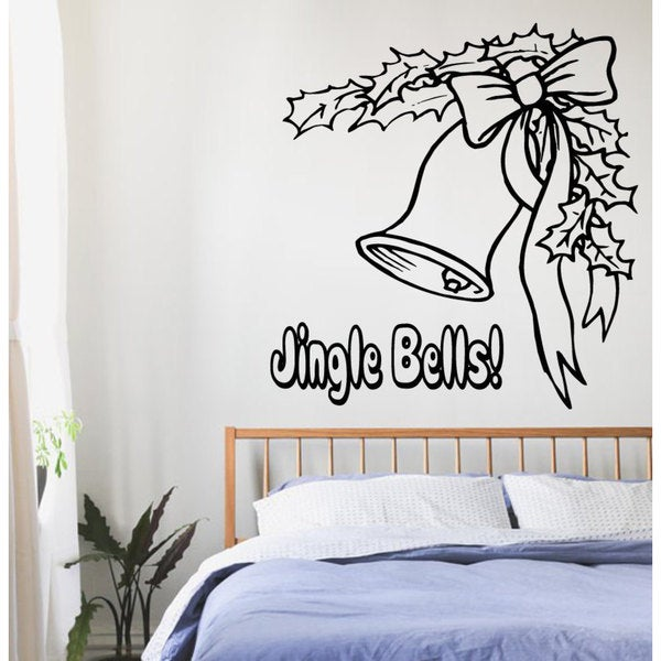 Merry Christmas Jingle Bells Vinyl Sticker Wall Art