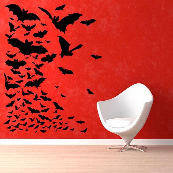 Bats Halloween Vinyl Sticker Wall Art 15436728