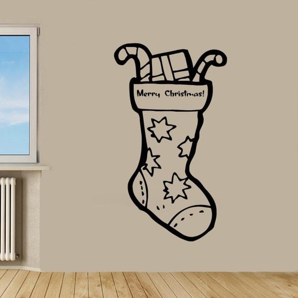 Christmas Sock Vinyl Sticker Wall Art