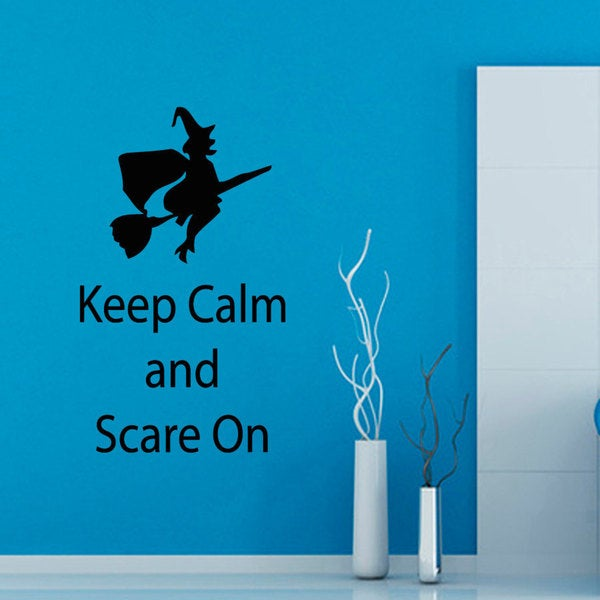 Keep calm and scare on Vinyl Sticker Wall Art