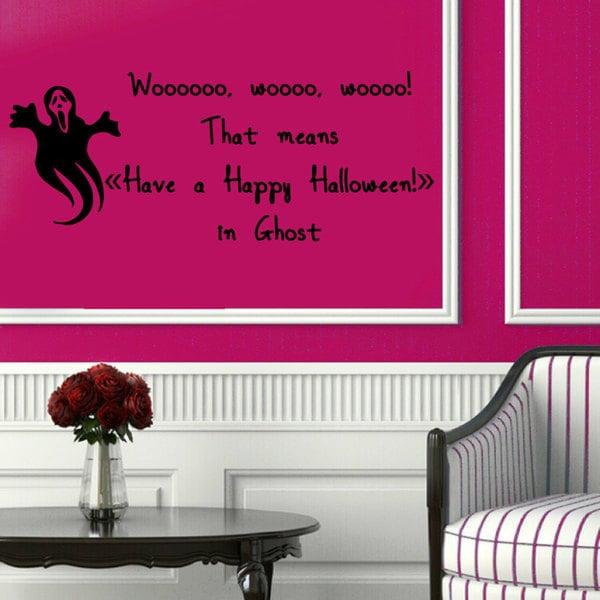 Halloween Ghost Vinyl Sticker Wall Art 15436759