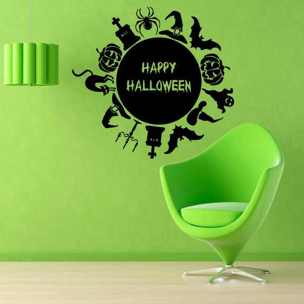 Happy Halloween Vinyl Sticker Wall Art 15436763