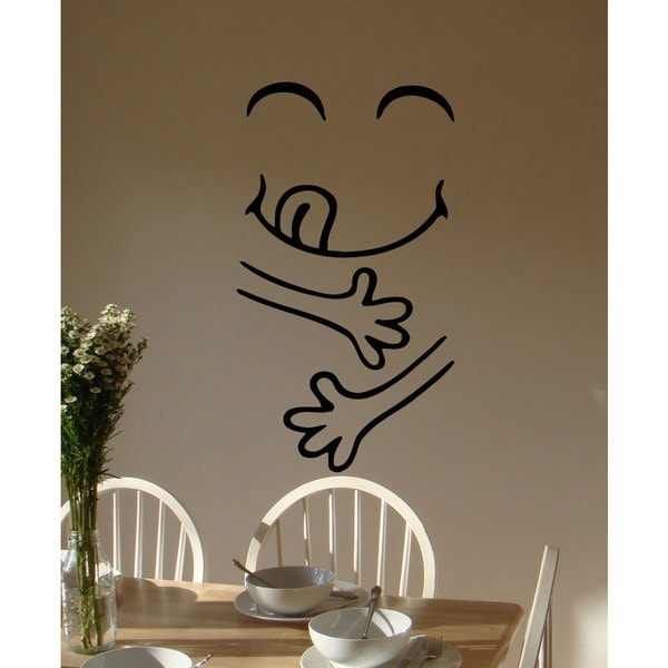 Funny Face Yammy Vinyl Sticker Wall Art