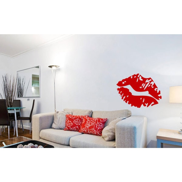 Hot Lips Vinyl Sticker Wall Art
