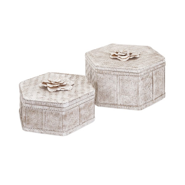 Narissa Woven Bamboo Boxes (Set of 2)