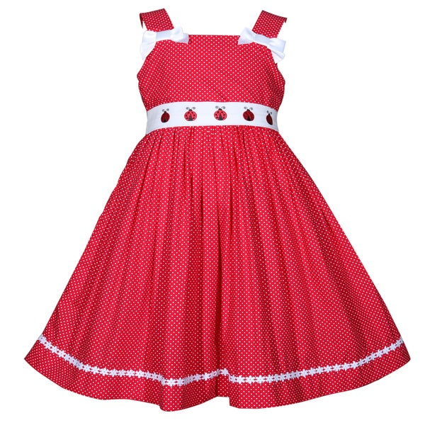 Treasure Box Kids Red and White Polka Dot Ladybug Dress