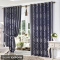 Aurora Home Classic Damask Jacquard Grommet Wide Curtain Pair