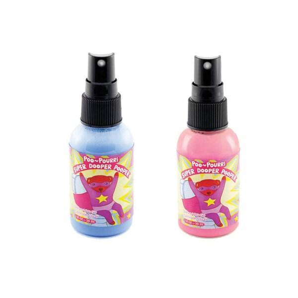 Poo-Pourri 2-ounce Super Dooper Pooper Pink and Blue