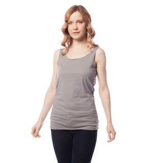 AtoZ Women's Basic Scoop Neck Solid Color Tank Top