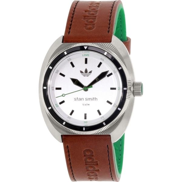 Adidas Men's Stan Smith ADH3005 Silver Leather Quartz Watch