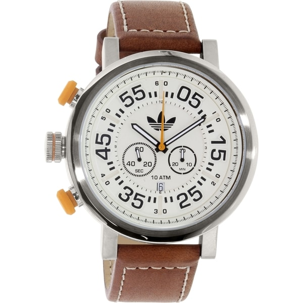 Adidas Men's Indianapolis ADH3025 Silver Leather Analog Quartz Watch