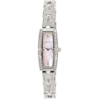 Bulova Women's Crystal 96L208 Stainless Steel Quartz Watch