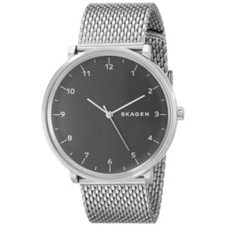 Skagen Men's SKW6175 Hald Analog Black Dial Stianless Steel Mesh Bracelet Watch