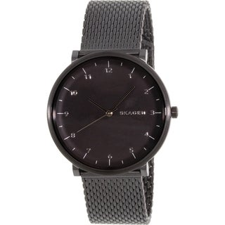 Skagen Men's Hald SKW6171 Black Stainless Steel Quartz Watch