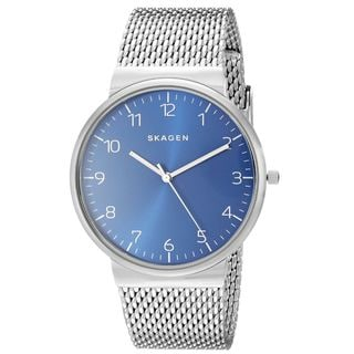 Skagen Men's Ancher SKW6164 Blue Stainless Steel Quartz Watch