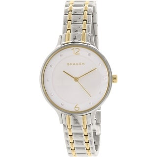 Skagen Women's SKW2321 Diamond Silver Dial Two-Tone Stainless Steel Bracelet Watch