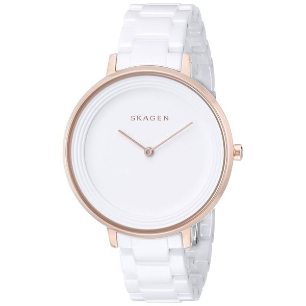 Skagen Women's Ditte SKW2316 Rose-gold Ceramic Quartz Watch
