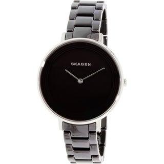 Skagen Women's Ditte SKW2303 Black Ceramic Quartz Watch