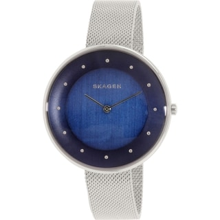 Skagen Women's SKW2293 Gitte Analog Blue Dial Stainless Steel Mesh Bracelet Watch