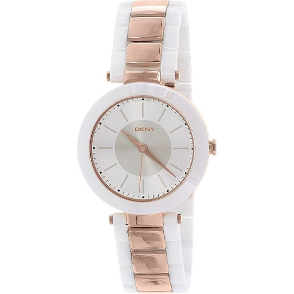 DKNY Women's Stanhope NY2290 White Ceramic Quartz Watch