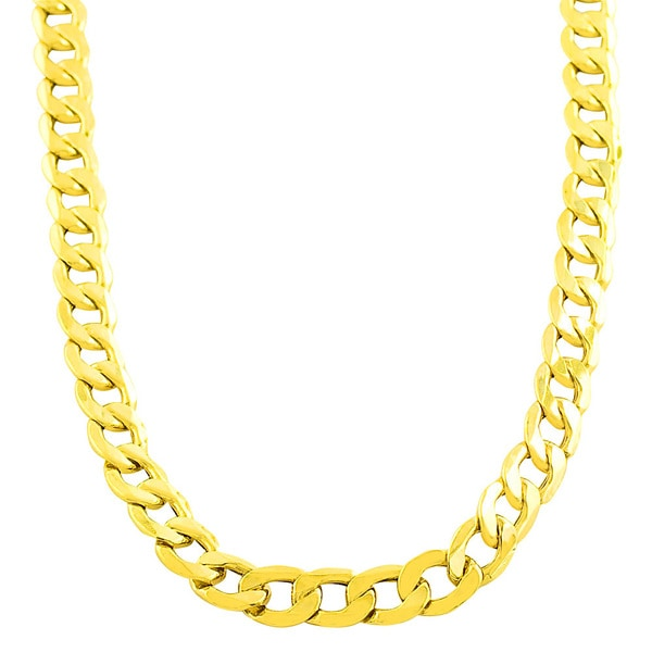 "Fremada 10k Yellow Gold 8.3mm Men's Curb Link 20"" Chain (As Is Item)"