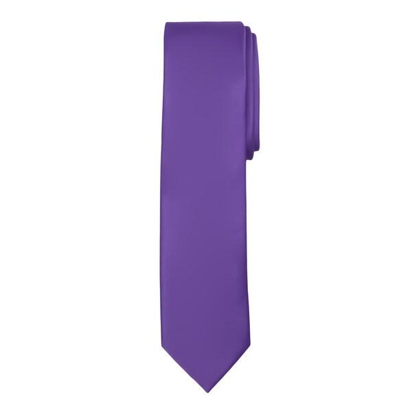 Boys' Jacob Alexander Solid Color Regular Tie