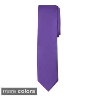 Jacob Alexander Men's Solid Slim Tie