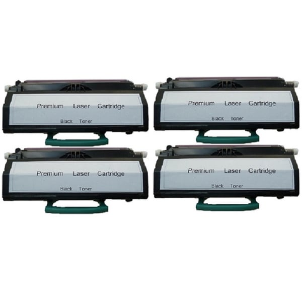 4-pack Replacing Lexmark E460 E460X21A 15K Black Toner Cartridge for Lexmark E460DN/ E462dtn/ E460DW/ E460dtn Series Printers