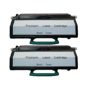 2-pack Replacing Lexmark E460 E460X21A 15K Black Toner Cartridge for Lexmark E460DN/ E462dtn/ E460DW/ E460dtn Series Printers