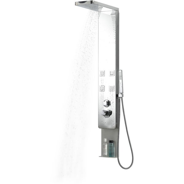 BOANN Stainless Steel Rainfall/ Waterfall 4-jet Shower Panel System