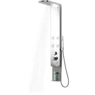 BOANN Stainless Steel Rainfall/ Waterfall 4-jet Shower Panel System