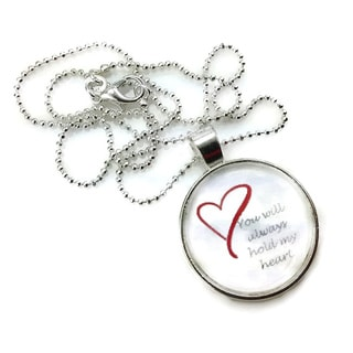 """Mama Designs Glass Dome """"you Will Always Hold My Heart """""""