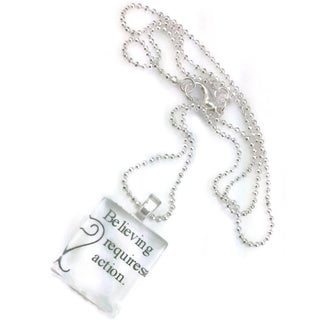 Mama Designs Believing Requires Action Necklace