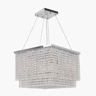 Prism Collection Chrome Finish and Clear Crystal 9-light Chandelier