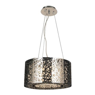 Aramis Collection 6-light LED Chrome Finish and Clear Crystal Chandelier