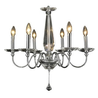 Innsbruck Collection 6-light Chrome Finish and Clear Crystal Candle Candelabra Chandelier