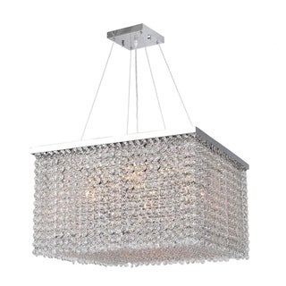 Prism Collection Clear Crystal 9-light Chrome Finish Chandelier