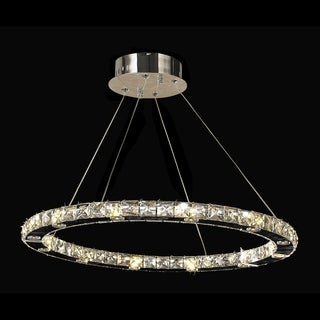 Galaxy LED 24-light Chrome Finish and Clear Crystal Chandelier