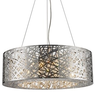 Aramis Collection 12-light LED Chrome Finish and Clear Crystal Chandelier