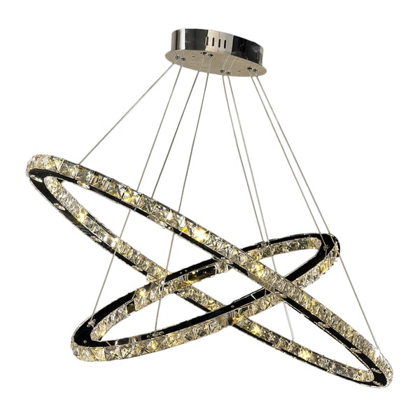Galaxy 52 Led Light Chrome Crystal Chandelier